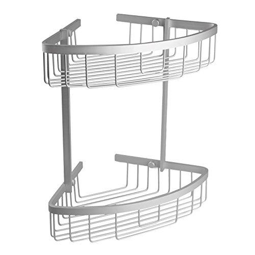 Tatay - Ice Cesta Rinconera de Ducha o Bañera con 2 Alturas. Fabricada en Acero Inoxidable. Medidas 30 x 22 x 33 cm (An x L x Al) Acabado Cromado