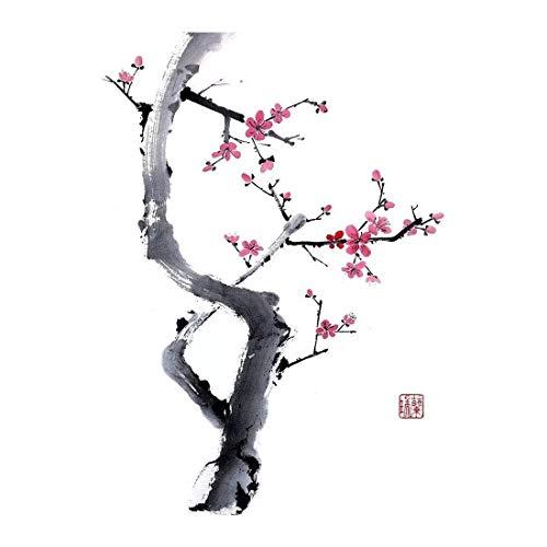 Abstrakte Moderne handgemalte Wandmalerei im chinesischen Stil