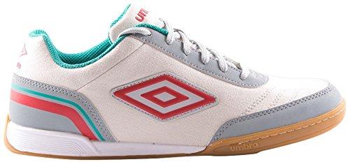 Umbro Futsal Street V Bota IC, Zapatillas Hombre, Multicolor (White/Grey/Red/Blue), 41 EU