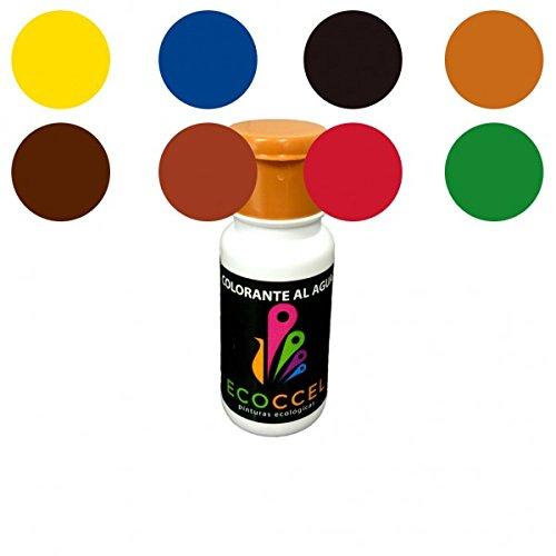 Tinte al agua, colorante ecológico, mejor colorante para pinturas con base de agua, colorante pintura pared, colorante pintura, TINTES PACK ECOCCEL, 8 de 0,05 Lt (0,05 lt)