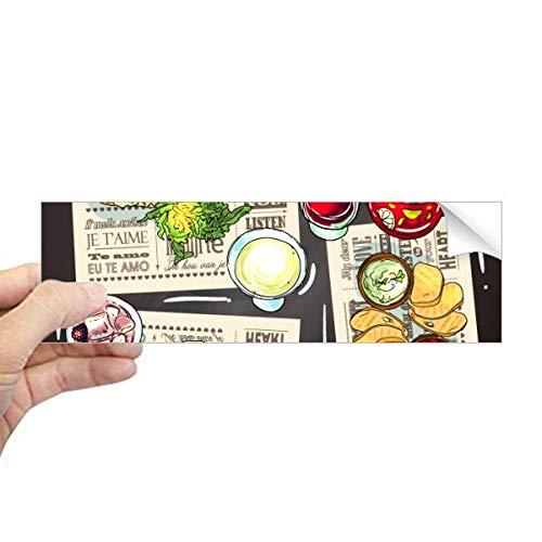 DIYthinker Gourmet Bar Steak Soep Limonade Rechthoek Bumper Sticker Notebook Window Decal