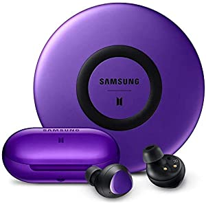 Galaxy Buds+ Plus BTS Edition | True Wireless Earbuds w/Improved Battery and Call Quality | Wireless Charging Case Included | Purple with Fast Charge Wireless Charging Pad – Korean Version