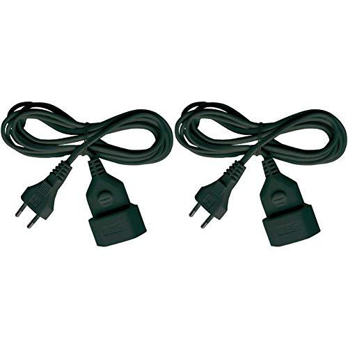 Brennenstuhl 1161800 Cable de Plástico, Negro + 149928 Cable de Plástico 230 V, Negro 3 Metros