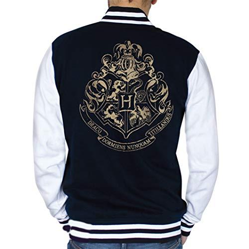 ABYstyle - Harry Potter - Jacke - Hogwarts Symbol - Herren - Blau (M)