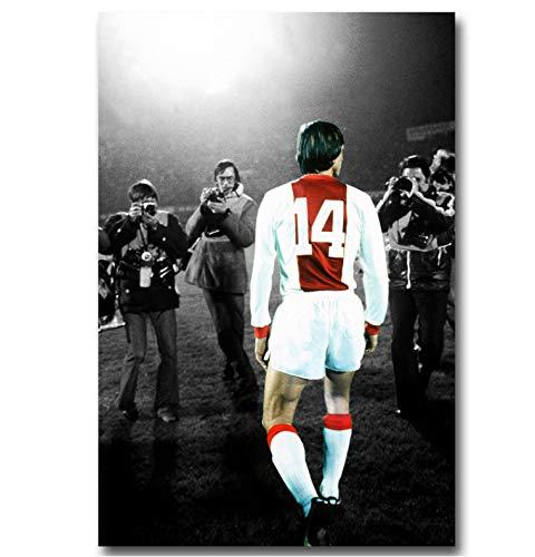 Wandkunst Bild Fußball Legende Kunst Leinwand Poster Drucken Niederlande Fußballstar Bilder Room Decor 50 * 75 cm Ohne Rahmen