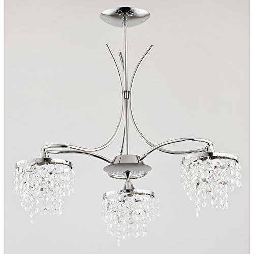 Kaliopa 24453 Alfa - Lámpara de techo (3 bombillas de 40 W, E14)