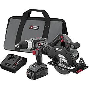 Porter-Cable PC218C-2 18-Volt NiCad Cordless 2-Tool Combo Kit by Porter-Cable
