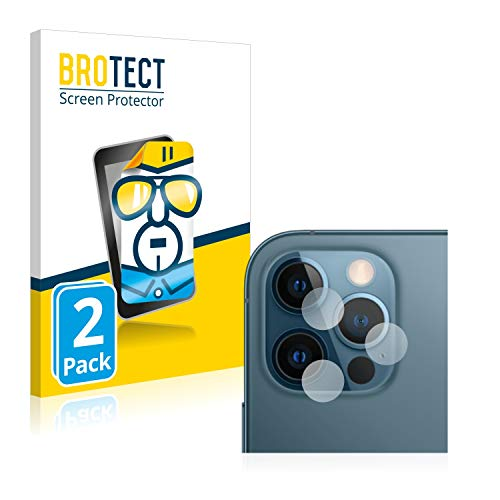 BROTECT Schutzfolie kompatibel mit Apple iPhone 12 Pro (NUR Kamera) (2 Stück) klare Bildschirmschutz-Folie