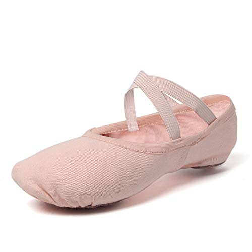 VCIXXVCE Ballet Shoes for Girls/Toddlers/Kids Stretch Canvas Pink Ballet...