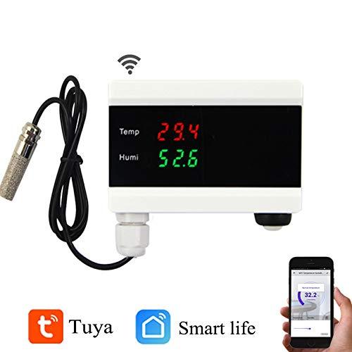 ILS – wifi-sensor temperatuur-luchtvochtigheid intelligente thermometer hygrometer Home Digital Display Android Alarm app
