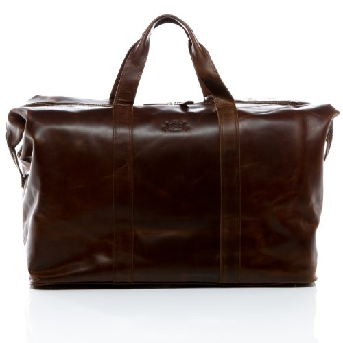 SID & VAIN travel bag CHESTER - weekender leather tan-cognac - duffel - sports bag