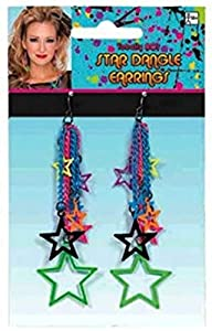 Totally 80's Star Dangle Earrings