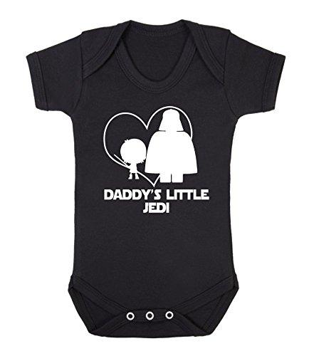 Daddy's Little Jedi Star Wars - Chaleco para bebé (6-12 meses), color negro