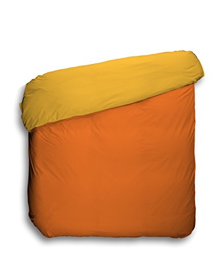 Play Basic Collection 104509.0 - Funda nórdica lisa reversible, 150 x 220 cm (para cama de 90 cm), color naranja caqui