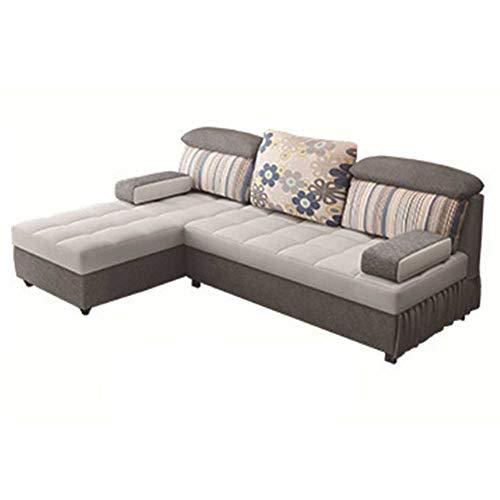 RJMOLU Salón Corner/Sofá Cama Seccional Reversible L con Forma de sofá Cama con Almacenamiento Moderno Comodidad Extra sofá sofá slegre para Sala de Estar o Dormitorio,B