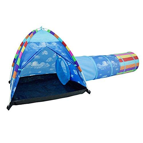 Acelane Kuppel Zelt und Instant Tunnel Spielzelte Kinder Spielhaus Spielzeug Geschenk für Jungen Mädchen Verwendung für Innen, Außen und Strand (Blue)