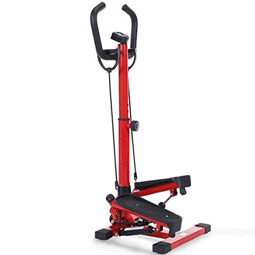 HAOT Stepper,Stepper - Red Fitness Stapper Stepper, Mini Stepper Fitness Cardio Trainer per Esercizi, Stepper Regolabile in Altezza con Azione di Torsione