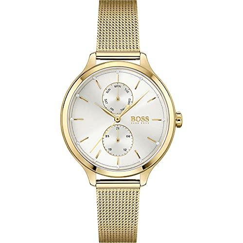 Hugo Boss Reloj Analógico para Mujer de Cuarzo con Correa en Acero Inoxidable 1502537