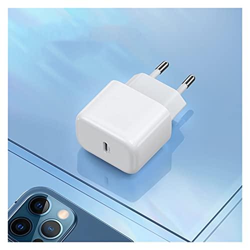 Pxbhd Carga rápida 4.0 3.0 QC PD Cargador 20W QC4.0 QC3.0 Cargador rápido para i-Phone 12 x XS 8 para el Adaptador de Cargador de PD del teléfono móvil X-IAOMI (Plug Type : Mini EU 20W)