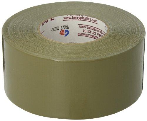 Nashua 398 Polyethylene Coated Cloth Professional Grade Duct Tape, 55m Length x 72mm Width, Olive Drab