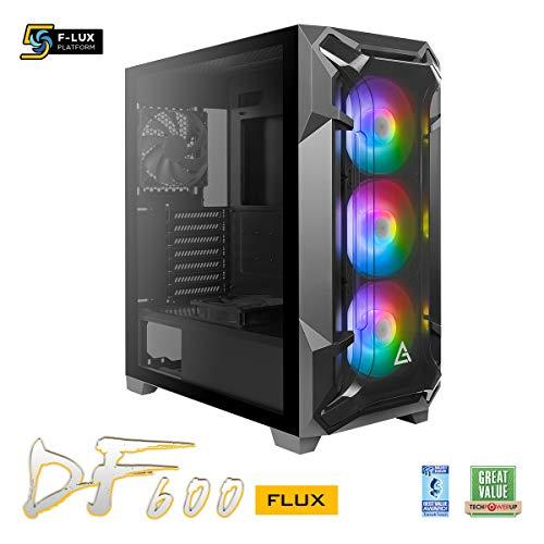 ANTEC SCATOLA DF600 FLUX ARGB BT ATX 2USB3 F120MM lato trasparente