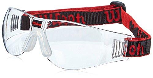 Wilson Squash-Brille, Omni Squash, Unisex, Schwarz/Rot, ZC1505