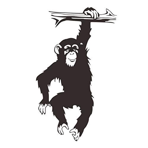 MERIGLARE Etiqueta Engomada de La Decoración de La Pared de La Etiqueta Engomada Negra del Mono del Gorila para