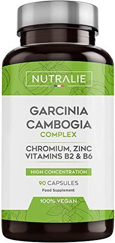 Garcinia Cambogia | 100% Natürlicher Fatburner und Appetitzügler | 60% HCA Hochdosiert | 90 Vegane Kapseln | Nutralie