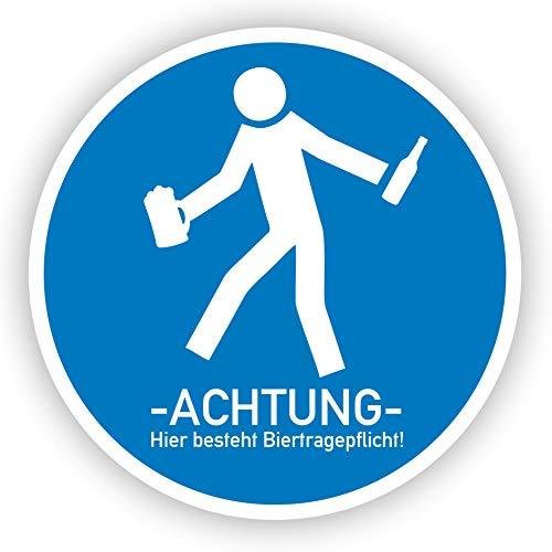 Werbeagentur Finkbeiner Schild Bier Biertragepflicht Saufen Warnschild - 30cm auf 2mm Hartschaumplatte - Beschreibbar