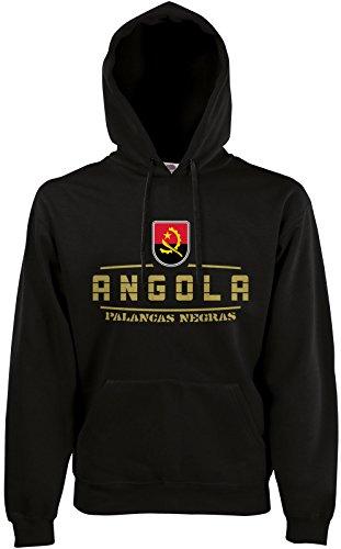 AkyTEX Angola Fan Hoodie Kapuzenpullover WM2018 Schwarz S