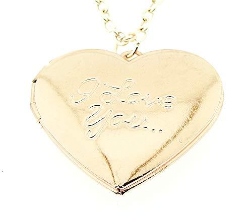 Vrouwelijke ketting - vrouw - hartje - i love you - opening - iyou - hanger - valentijnsdag - doos - rosé goud - paar - origineel cadeau idee i love you