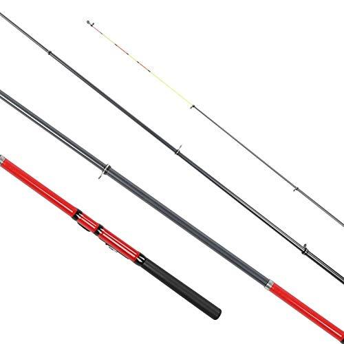 DAUERHAFT Sea Fishing Pole Leichte Angelrute Robuste Angelrute für Süßwasserfische zum Angeln(red, 2.7 Meters)