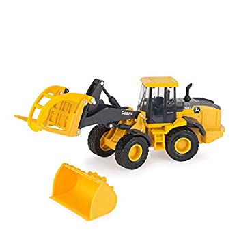 TOMY John Deere Loader Vehicle Toy for Kids Yellow