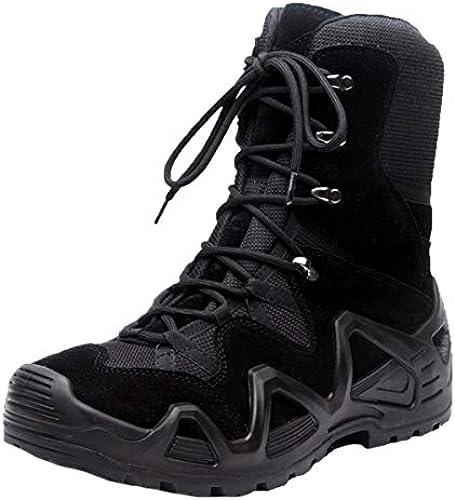 Männer Männer Männer  stiefel Taktische Stiefel G-144 Combat Training Dschungelstiefel Outdoor Herren Ultraleicht Atmungsaktiv Arbeitsstiefel Armee Tactical Stiefel Trekkingschuhe Rutschfeste,schwarz-EU47  Kunden zuerst
