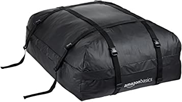 AmazonBasics Rooftop Cargo Carrier Bag 15 cu. ft., ZH1705156, H33.5 x W16.84 x D43.5 inches, Black