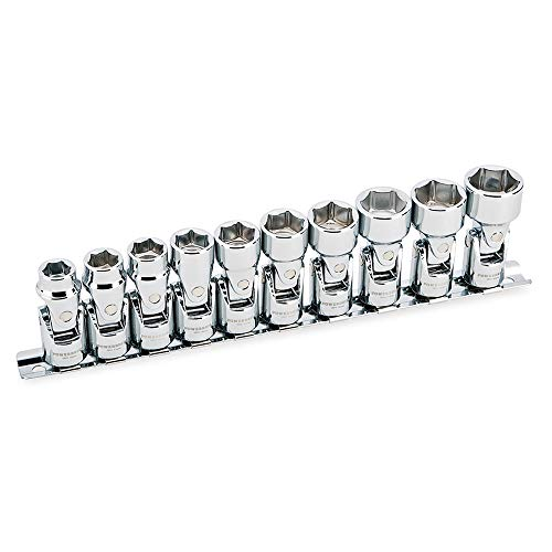 Powerbuilt 641715 3/8' Dr. 6 Pt. Metric Universal Socket Set (10 Piece) (10-19mm)