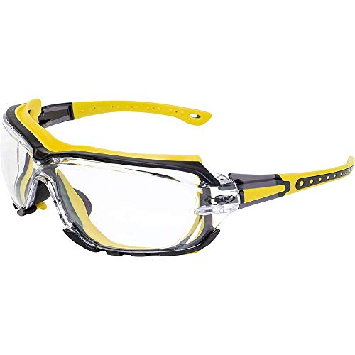 Global Vision Octane Gasket Clear One Piece Anti-Fog Sport Motorcycle (Yellow)