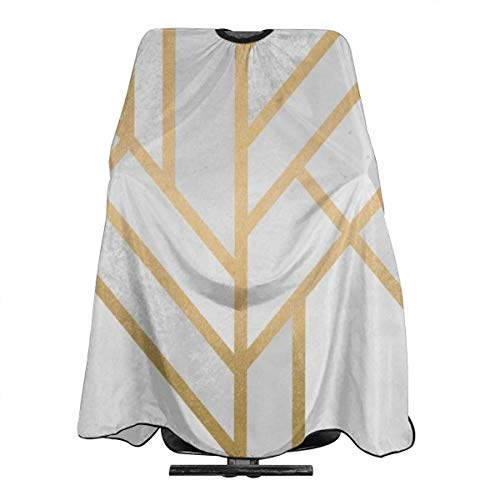 Tablier de salon professionnel pour homme et femme avec motif géométrique art déco imperméable et antistatique 140 x 168 cm