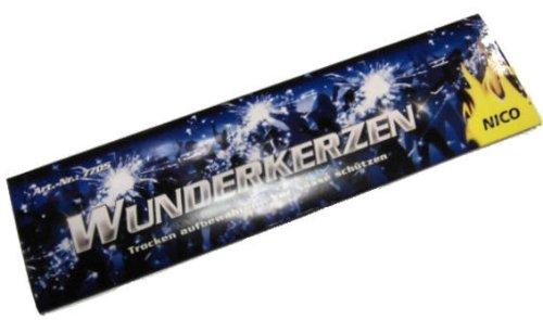 1 Pack. NICO Wunderkerzen Inhalt je 10 Stück, ca. 17 cm lang
