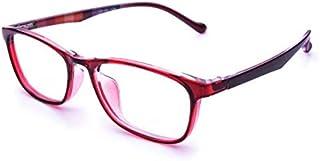 Jcerki Red Frame Bifocal Reading Glasses 1.75 Strengths Men and Women Bifocal Reading Eyeglasses