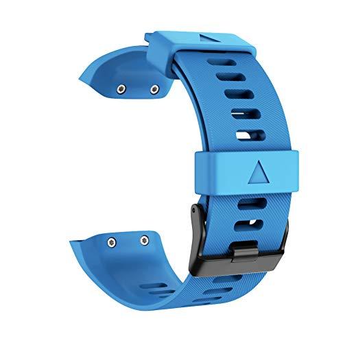 ZDYS Correa Reloj Accesorios Coloridos Reemplazo Suave Hebilla Pasador Casual Transpirable Deporte Unisex Muñequera Silicona Ajustable para Garmin Forerunner 35(Cielo Azul)