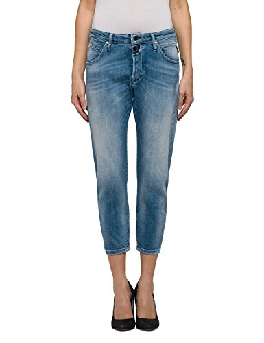 Replay Damen Pilar Ankle Zip Boyfriend Jeans, Blau (Light Blue Denim 10), W31