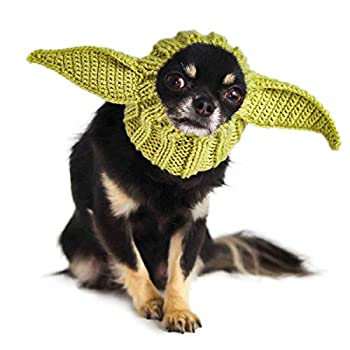 Zoo Snoods Baby Alien Dog Costume - Neck and Ear Warmer Hood for Pets  Small