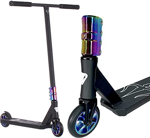Anaquda Shiva Complete Park Stunt-Scooter T-Bar H=88cm ATRAX SCS 110mm Blade Rollen (schwarz/Regenbogen Rainbow Neochrome)