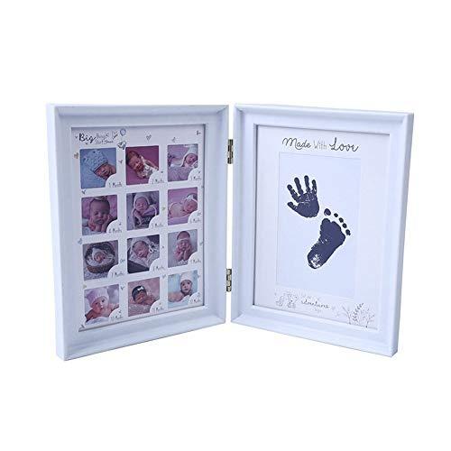 XY399 graden Familie fotolijst Eerste Jaar Baby Gift Kids Verjaardagscadeau Thuis Familie Decoratie Ornamenten 12 Maanden Foto Frame met Craft Ink Pad
