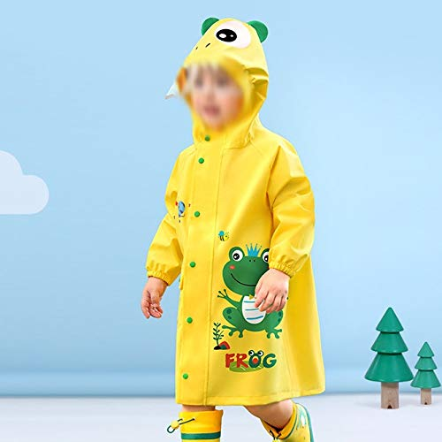 YWSZJ Chubasquero para niños y niñas, poncho de lluvia (color: C, tamaño: pequeño)