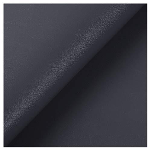 ZSFBIAO Hoja de Cuero de Imitacióntela por Metros Tela sintética con patrón Litchi Ideal para decoración de sofás, sillas, Bolsos -31o Gris Pizarra 1.38×3m