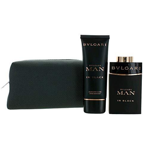 Bulgari Man in Black homme/man Set (Eau de Parfum,100ml+BVLGARI After Shave Balm,100ml), 200 ml