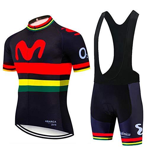 Hplights Conjunto Traje Ropa Ciclismo Equipacion para Hombre, Maillot Ciclismo Mangas Cortas...
