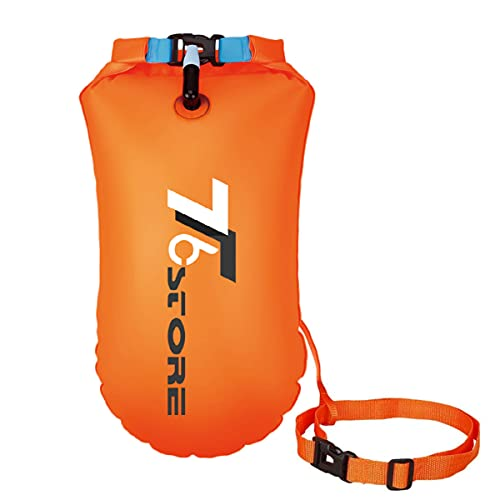 T6 20L Swim Buoy Waterproof Dry Bag Swim Safety Float Keep Gear Dry for Boating Kayaking Fishing Rafting Swimming Training and Camping